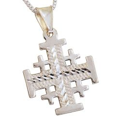 'Jerusalem Cross' Pendant with Etched Pattern
