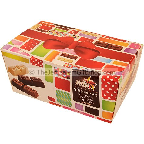 Elite Mini Chocolate Gift Box are delicious mini chocolate bars in various flavors Net Weight: 200 gram / 8 Oz.Made in Israel. Flavours include:White ChocolateMilk ChocolateBittersweet chocolate. The taste that all Israeli's love! Shipped to you direct fr #gift