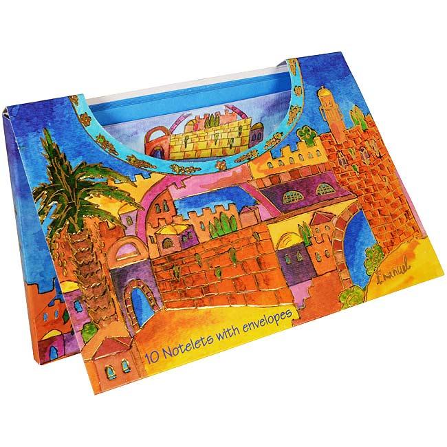 Image of 10 Notelets (large) With Envelopes - Jerusalem