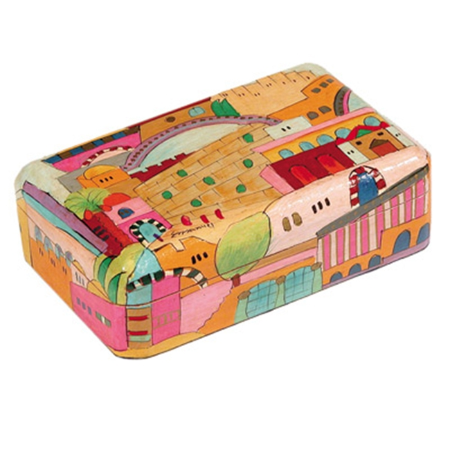 Yair Emanuel Hand-Painted Jewelry Box - Jerusalem (medium)