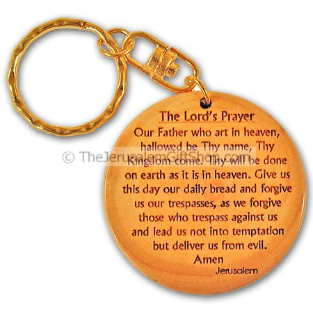Keychain - Lord's Prayer - Olive Wood - Made in Bethlehem