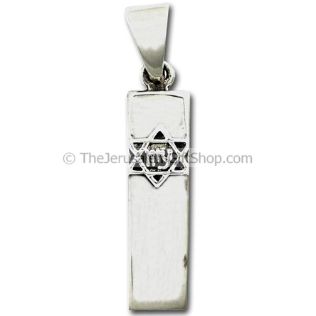 Mezuzah pendant - star of david