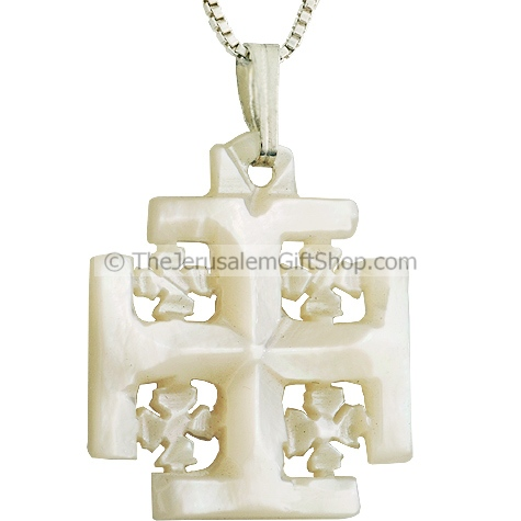 Mother of Pearl 'Jerusalem Cross' Pendant