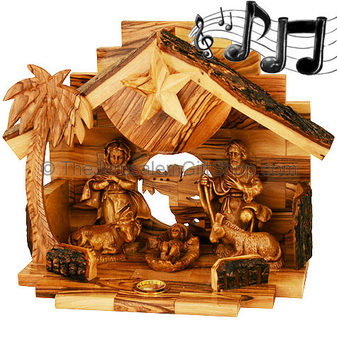 Musical Nativity from Olive Wood