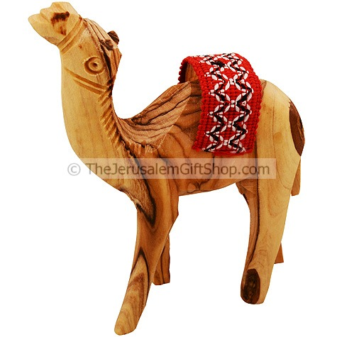 Olive Wood Camel with Saddle - Various sizes
