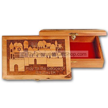 Large Olive Wood Box - Psalm 122:6