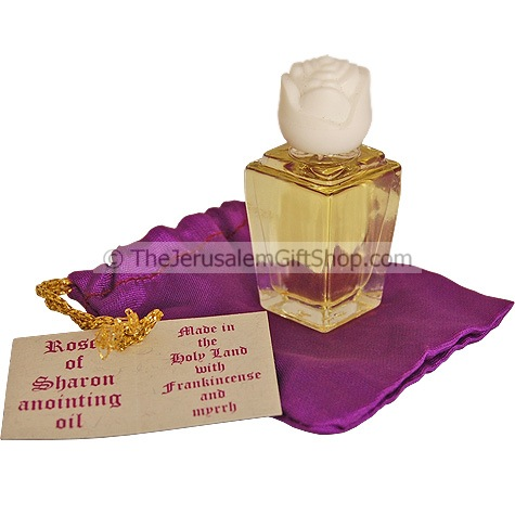 Rose of Sharon Anointing Oil - with handy purse pouch Size: 5ml Made in the Holy land with Frankincense and Myrrh Shipped direct from Israel. #purse