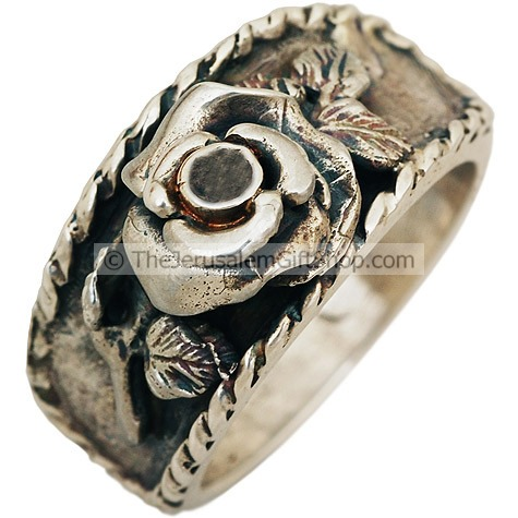 Rose of Sharon Silver Ring