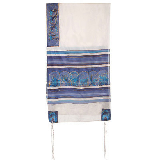 Beautifully designed silk Miriam and Deborah Tallit by renowned Israeli artist Yair Emanuel. Size: 21 x 77 inches / 52 x 192 cm.Color: Turquoise. Emanuel, a graduate of the Bezalel Academy of Art and Design, lives and works in Jerusalem. Born in Kibbutz S #silk