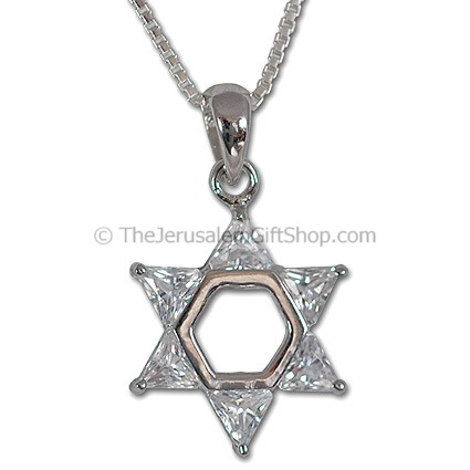 Star of David Crystal Pendant